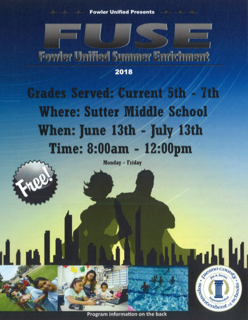 Fowler Unified Summer Enrichment 2018