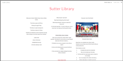 Link to Sutter Library